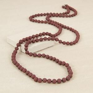 Matte Colour Glass Bead Necklace