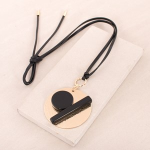 Geo Shapes Disc Necklace