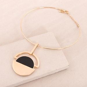 Half Circles Disk Collar Necklace