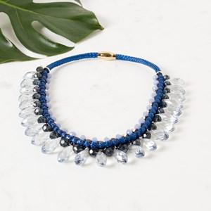 Teardrop Crystal Collar Necklace