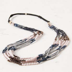 Long Multi Layer Crystal Necklace