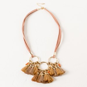 Rings & Tassel Necklace