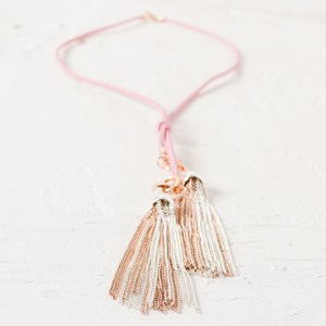 Cord Long Fine Tassel Necklace