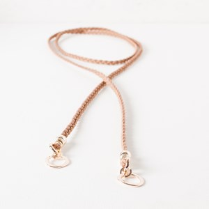 Plaited Wrap Flat Ring Necklace