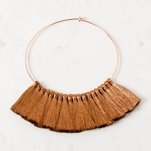 Tassel Front Collar Necklace