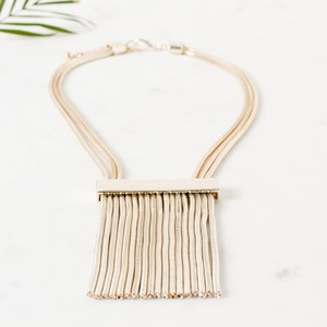 Flat Metal Tassel Necklace