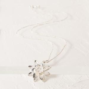 Lotus Flower Long Necklace