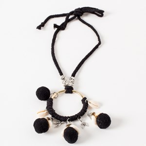 Cowri Pom Pom Long Necklace