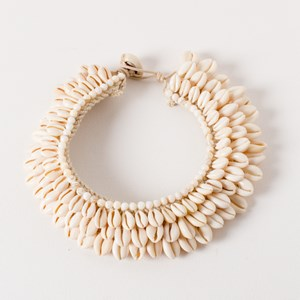 Cowri Statement Tie Back Collar Necklace