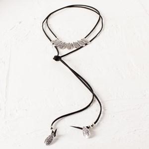 Patterned Teardrop Wrap Necklace