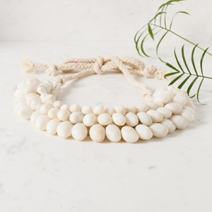 Three Layer Shell Statement Collar Necklace