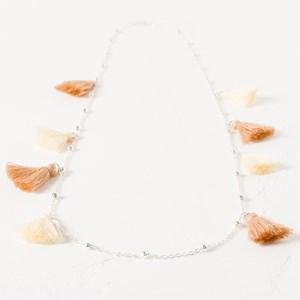 Fine Chain Ball & Tassel Necklace