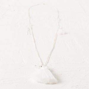 Fine Chain Stone & Tassel Necklace