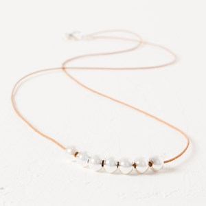 Fine Cord & Metal Ball Necklace