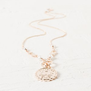 Sixpence Ball & Disk Long Necklace
