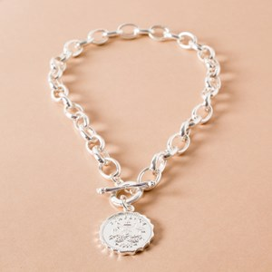 Sixpence Heavy Chain Necklace