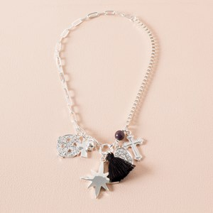 Charming Tassel Mid Necklace
