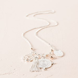 Compass Charms Long Necklace