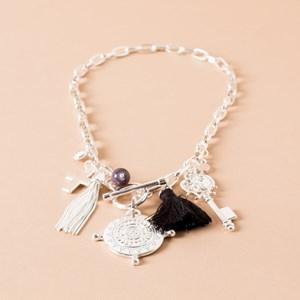 Compass Tassel Short Necklace