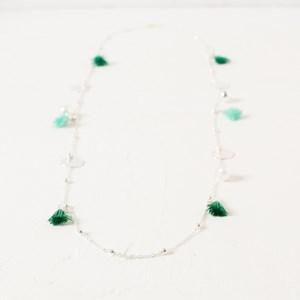 Mini Tassels Discs Necklace