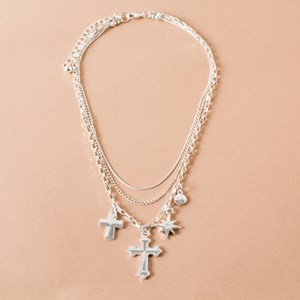 Box Chain Charm Necklace