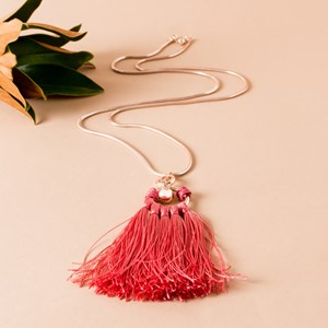 Tassel Ball Drop Chain Necklace