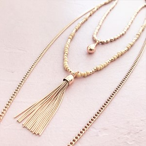 Pod & Tassel Layered Necklace