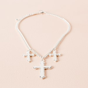 Trio Victorian Cross Necklace