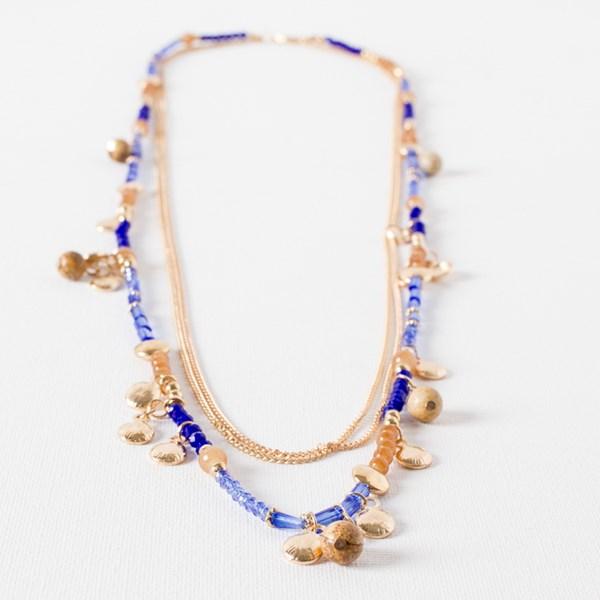 Layered Bead Chain Necklace