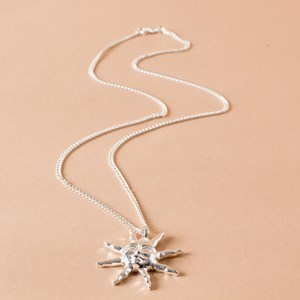 Simple Sun God Pendant Long Necklace