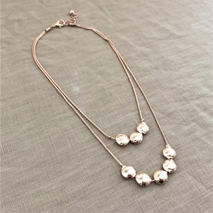 Double Layer Pod Short Necklace