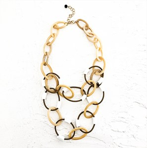 Two Tone Resin Loops Necklace