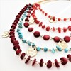 Multi Strand Stone Mix & Beaten Discs Necklace - pr_57734