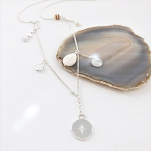 Fine Shell & Charm Details Long Necklace