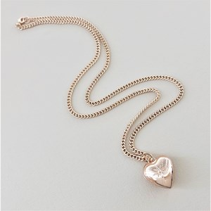 Princess Heart Pendant Chain Necklace