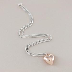Princess Heart Pendant Chain Necklace