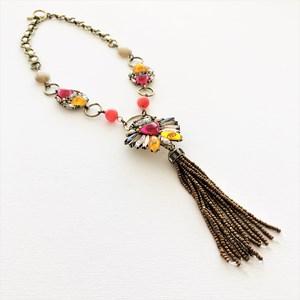 Treasure Hunt Jewel & Beaded Tassel Necklace