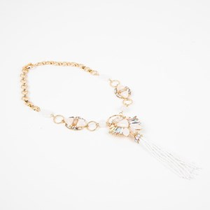 Treasure Hunt Jewel & Beaded Tassel Necklace