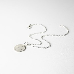 Love Diamante Centre Disc Short Necklace