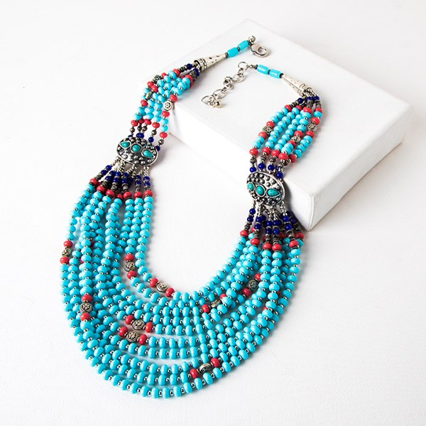 Tribe Multi Layer Bead Mix Necklace