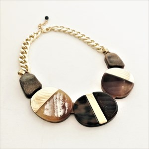 Resin Shape Mix Chain Short Necklace