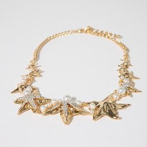 Diamante & Pearl Starfish Necklace