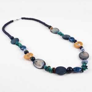Stone & Bead Long Necklace
