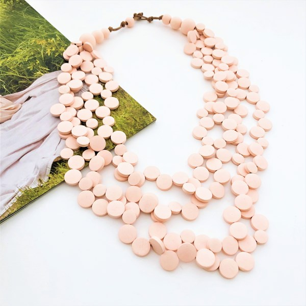Timber Discs Layered Necklace