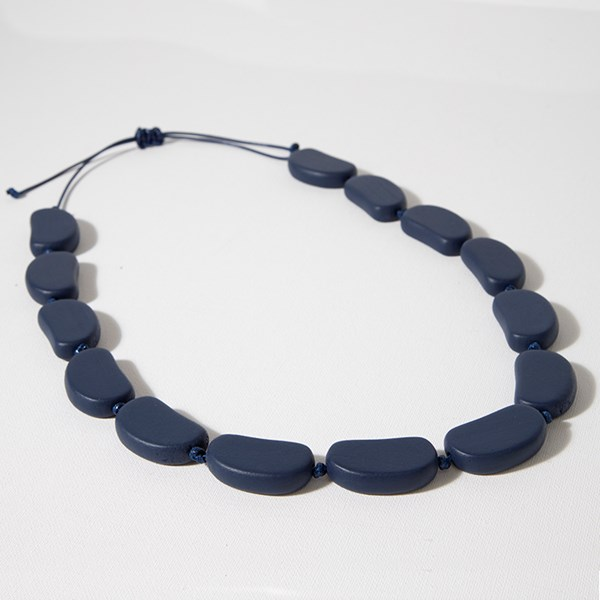 Knotted Timber Pods Cord Back Necklace