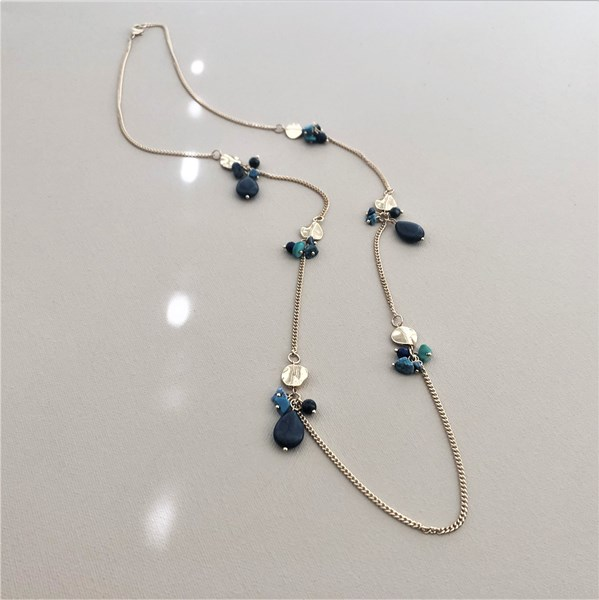 Stone Interval Long Necklace