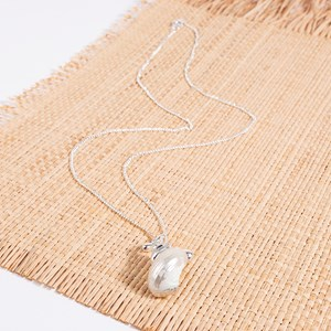 Curled Shell Gilded Long Necklace