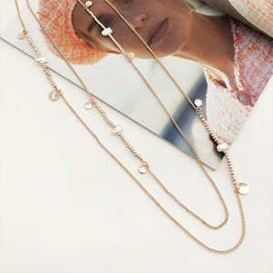 Layered Long Freshwater Pearl Necklace