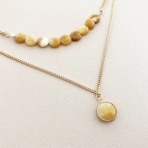Natural Stone Layer Necklace