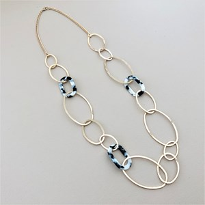 Resin & Metal Links Necklace